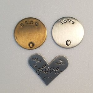 Origami Owl Plates for Living Lockets- set of 3